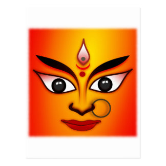 Diosa hindú Durga Tarjeta Postal
