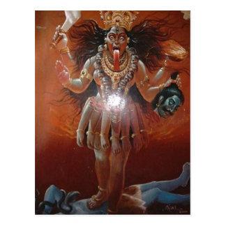 Diosa hindú Kali de la descripción Foto de un 17 Postal