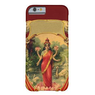 diosa hindú Lakshmi de la flor de Lotus del Funda De iPhone 6 Barely There