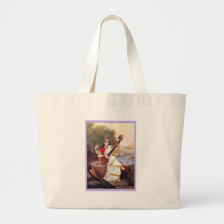 Diosa hindú Saraswati Bolsa Tela Grande