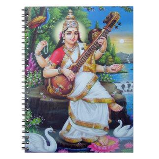Diosa hindú Saraswati Note Book