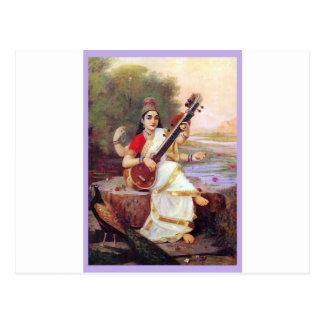 Diosa hindú Saraswati Postales
