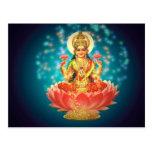 Diosa hindú tarjetas postales