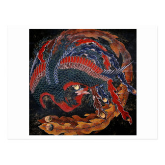 diosa Hokusai de Firebird del 葛飾北斎の鳳凰 Tarjetas Postales
