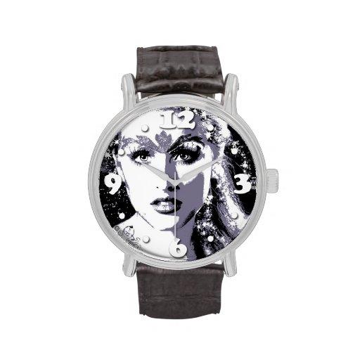 Diosa iluminada relojes de pulsera
