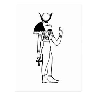 Diosa, jeroglífico egipcio postales