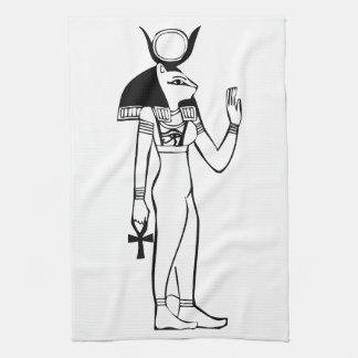 Diosa, jeroglífico egipcio toallas de cocina