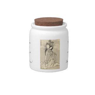 Diosa Konohana Sakuya Hime de Katsushika Hokusai Platos Para Caramelos