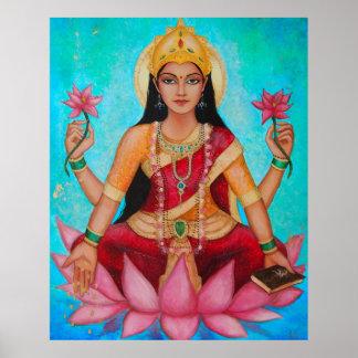 Diosa Lakshmi - arte original de Dori Hartley Póster