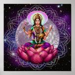 Diosa Lakshmi - mandala cósmica de la bendición Poster