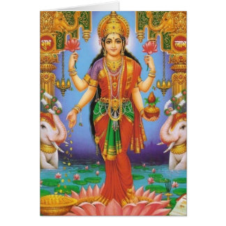 diosa-Lakshmi Tarjeta De Felicitación