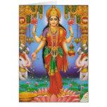 diosa-Lakshmi Tarjetón