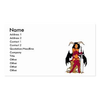 diosa malvada tarjetas de visita