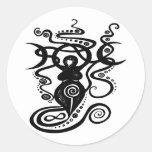 Diosa mística 1 etiqueta redonda