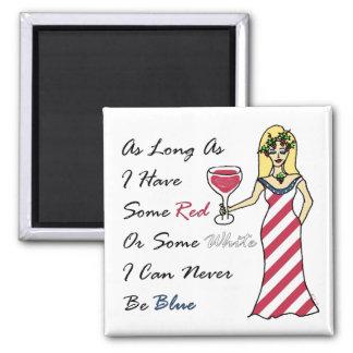 Diosa patriótica del vino nunca azul iman para frigorífico