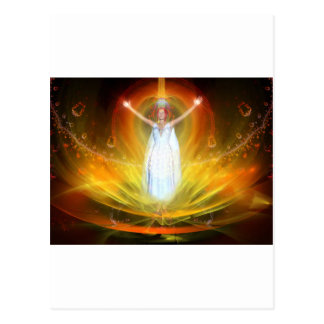 Diosa positiva de la energía tarjetas postales
