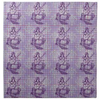 Diosa púrpura de la India de la pasa violeta azul
