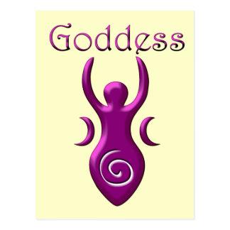 Diosa púrpura postal