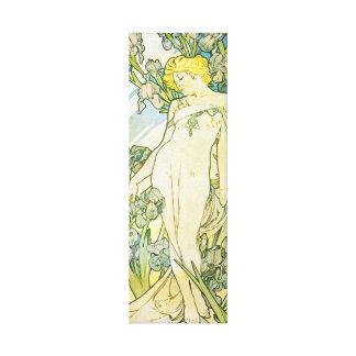 Diosa rubia de Nouveau del arte Impresión En Tela