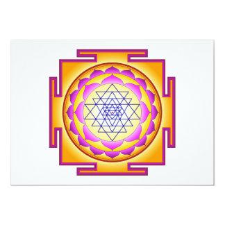 "Diosa Shri Lalitha Tripura Sundari de Sri Chakra Invitación 5"" X 7"""