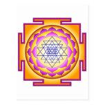 Diosa Shri Lalitha Tripura Sundari de Sri Chakra Tarjeta Postal
