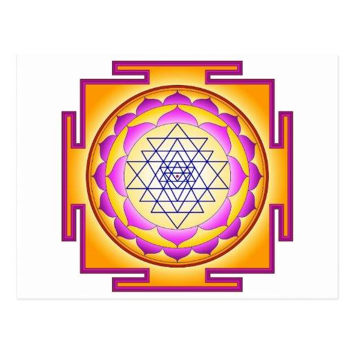 Diosa Shri Lalitha Tripura Sundari de Sri Chakra Postales