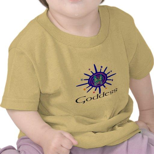 Diosa Sun y estrellas Camisetas