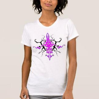 Diosa tribal - púrpura rosada playera
