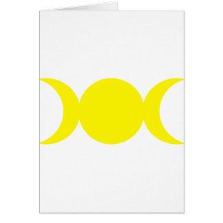 Diosa triple amarilla tarjeta de felicitación
