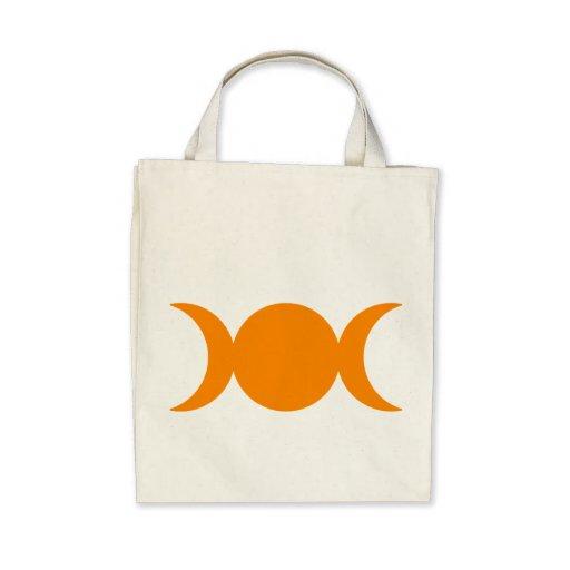 Diosa triple anaranjada bolsas