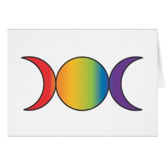 Diosa triple (arco iris) tarjeta de felicitación