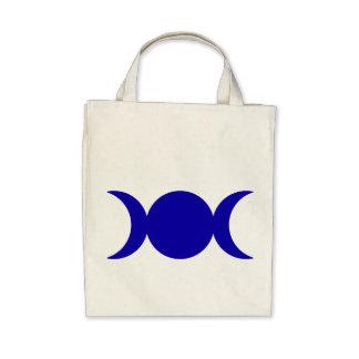 Diosa triple azul marino bolsas de mano
