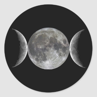 Diosa triple de la luna pegatina