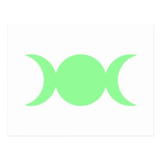 Diosa triple de la verde lima postales