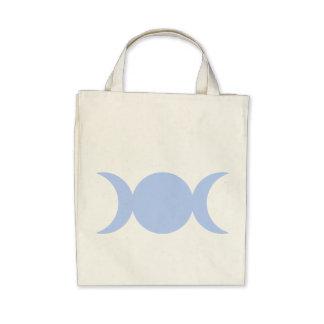 Diosa triple de los azules claros bolsas