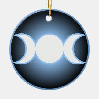 Diosa triple ornamento para arbol de navidad