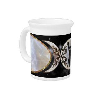 Diosa triple del Moonstone de la luna Jarras