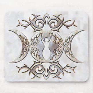 Diosa triple del Moonstone de la luna Tapete De Ratón