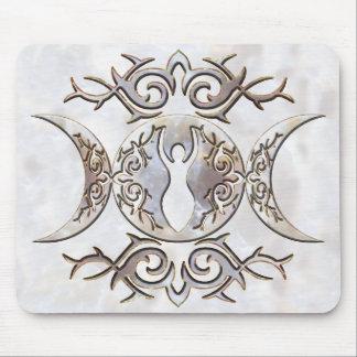 Diosa triple del Moonstone de la luna Alfombrilla De Raton