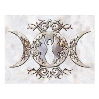 Diosa triple del Moonstone de la luna Tarjeta Postal