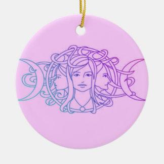 Diosa triple pagana de la luna de Wiccan Adornos