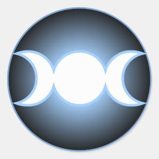 Diosa triple etiqueta redonda