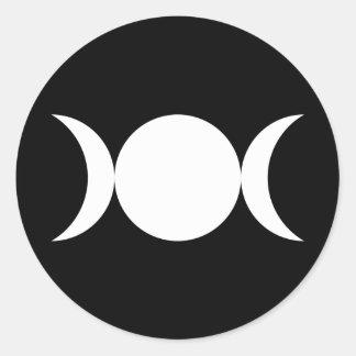 Diosa triple pegatina redonda