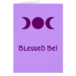 Diosa triple púrpura tarjeta de felicitación