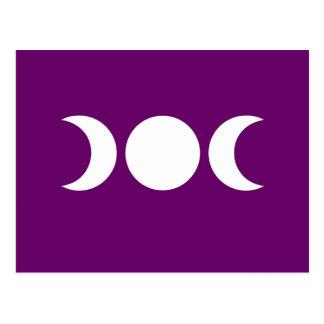 Diosa triple púrpura tarjeta postal