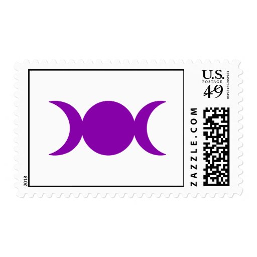 Diosa triple púrpura timbres postales