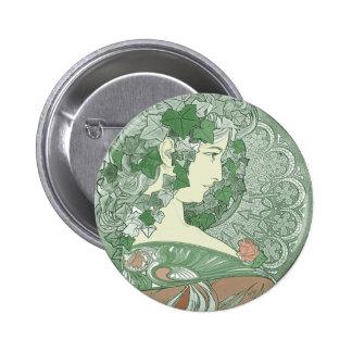 Diosa verde de la hiedra pin redondo 5 cm
