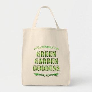 Diosa verde del jardín que dice la bolsa de asas