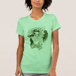 Diosa verde del vintage camisetas