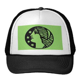 Diosa verde gorra